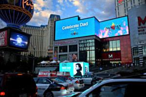Digital Advertising Las Vegas strip