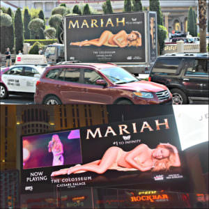 Mariah digital billboard vegas