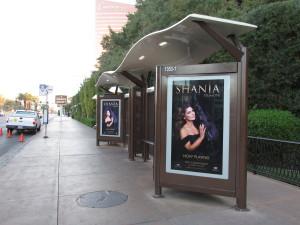 las vegas advertising bus shelter